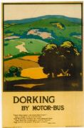 Vintage London underground poster - Dorking by motorbus